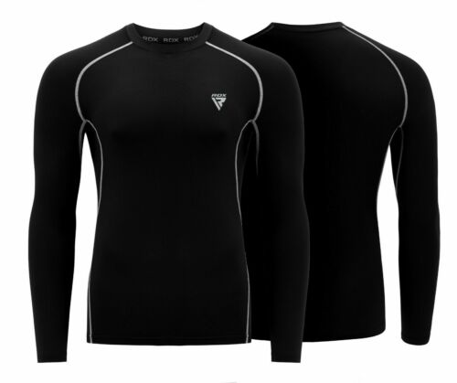 RDX MMA Rash Guard Long Sleeve Skin Compression Running Weight Loss Sweat Shirt