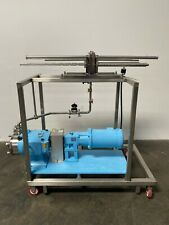 Millipore Pellicon 1 Filter Holder With Waukesha 045u2 Positive Displacement Pump