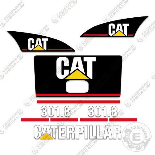 Caterpillar 301.8 mini excavator decal kit decals