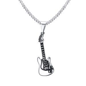 40mm stainless steel guitar pendant men s musical instrument Flying Electric 12 String Guitar Ve image is loading 40mm stainless steel guitar pendant men 039 s