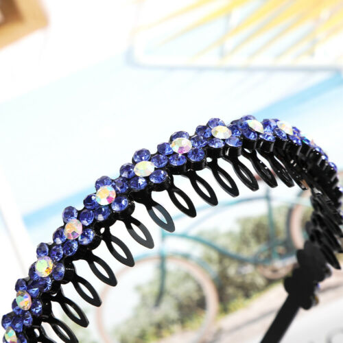 Femme Fashion Cristal Serre-tête Bandeau Cheveux Fleur Bande Cerceau Accessoires Bal