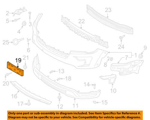 FORD OEM 2018 Explorer-License Plate Bracket Mount Holder JB5Z17A385AA