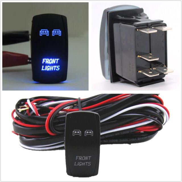 12v car atv/rv front light 5-pins rocker switch on-off &