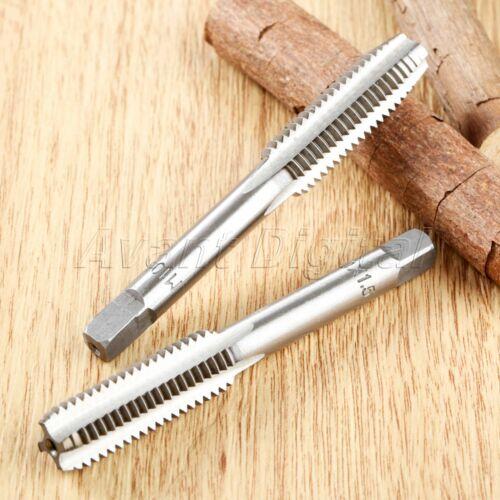 2Pcs M3-M10 Hex Shank Steel Hand Screw Thread Metric Tap Drill Bits Taps /& Dies