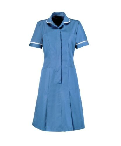 Nurses Healthcare Maid Carers Dentist  Uniform Classic Collar Dress HP297-HB