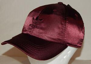 Adidas Originals Satin Women s Cap   Hat NEW Trefoil Adjustable Back ... b0e15158cbee