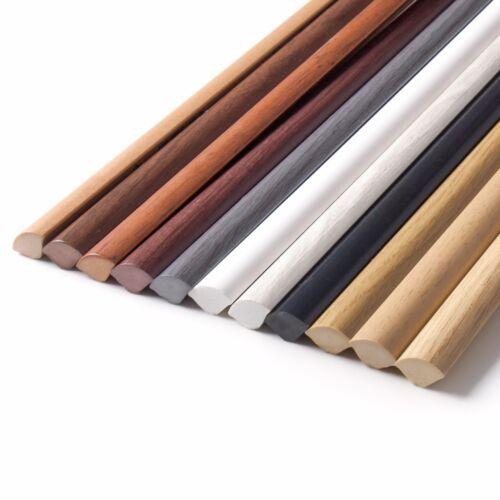 2.5m Viertelstab PVC 13x13mm Profil Abdeckleisten Kunststoff Boden Leisten