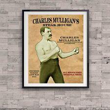 Ron Swanson Charles Mulligan's Steak House Poster Parks Recreation TV Prop Gift