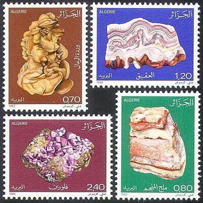 Algeria 1983 Minerals/Rocks/Geology/Mining 4v (n32170)