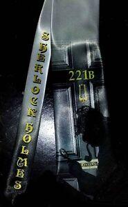 L@@K! Sherlock Holmes Neck Tie -  221 B Baker Street Crime Solver