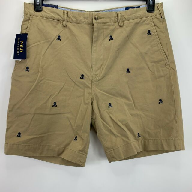 Polo RL Classic Fit Stretch Embroidered Skull Shorts