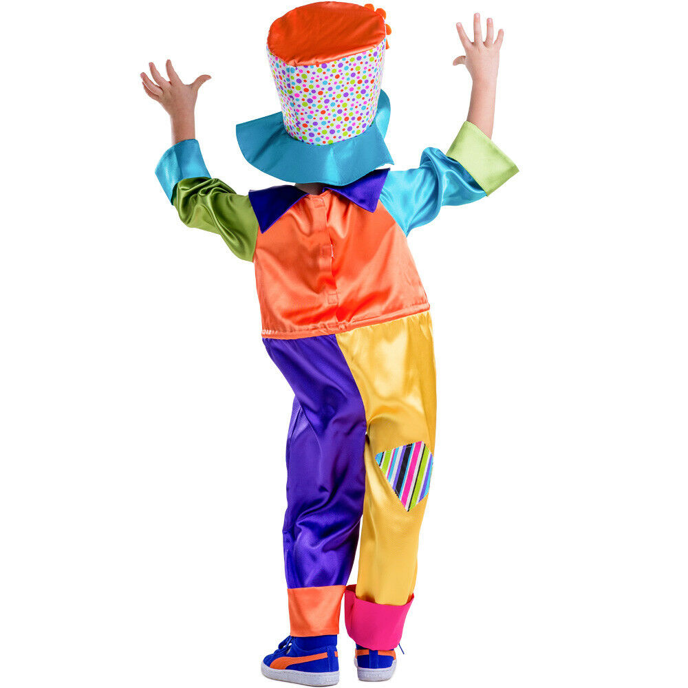 Dress Up America Kids Circus Clown Roleplay Multicolor Costume