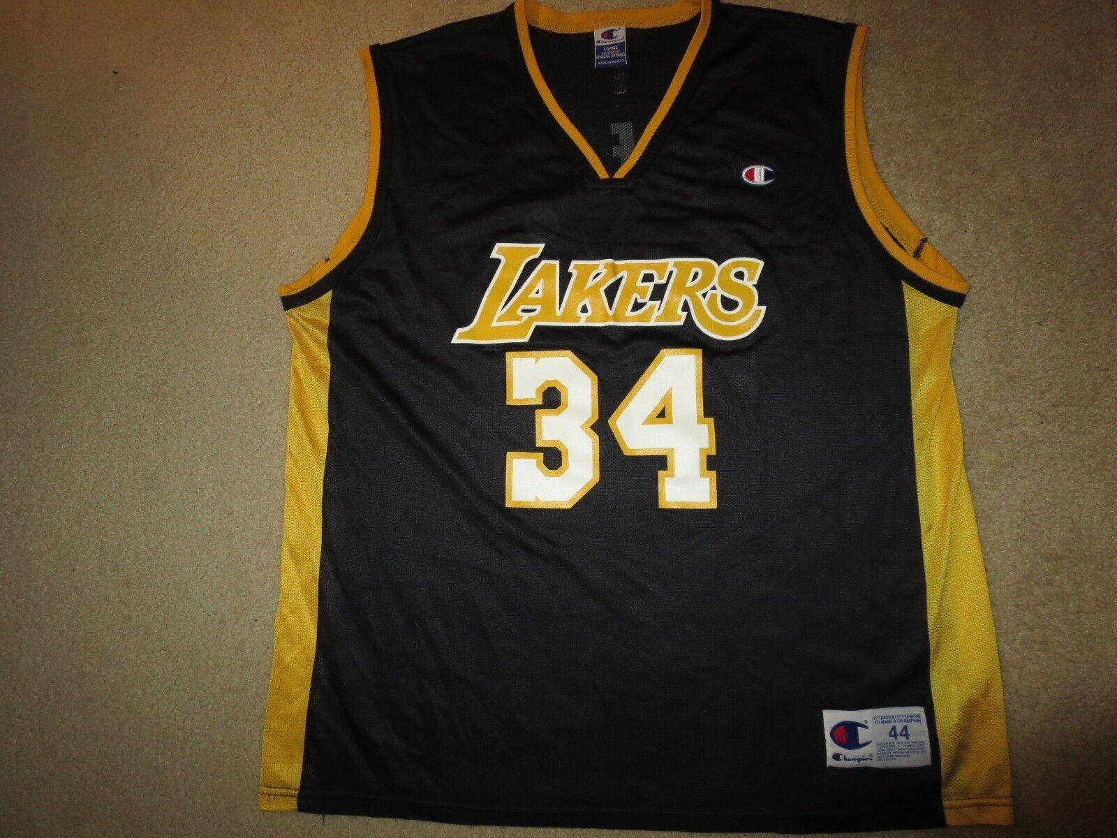 Shaq Shaq Shaq O'Neal  34 La Lakers Schwarz Champion NBA Trikot 44 L L fb6dc2