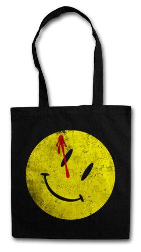 BLOODY BUTTON SHOPPER SHOPPING BAG Watchmen Heroes Comedian Comic Smile The