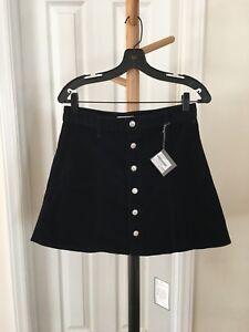 06b4a29c61 NWT Alexa Chung for AG Womens Navy Corduroy Solid A-Line Skirt 30 | eBay