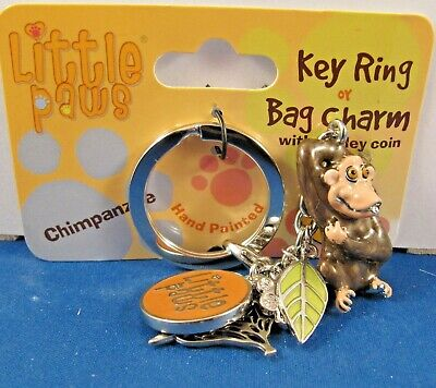 This is the CHIMPANZEE Bag Charms Fabulous Little Paws Key Ring