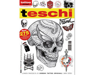 Skull Style Tattoo Flash Design Book 64 Pages Sketch Black Color Art