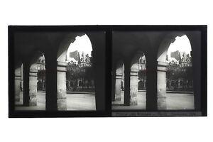 Parigi Place Dei Vosges Francia Foto Stereo T2L1n5 Placca Da Lente Vintage c1930