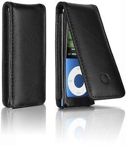 Funda piel original Philips DLO Slimfolio negro para iPod Nano 4g/5g