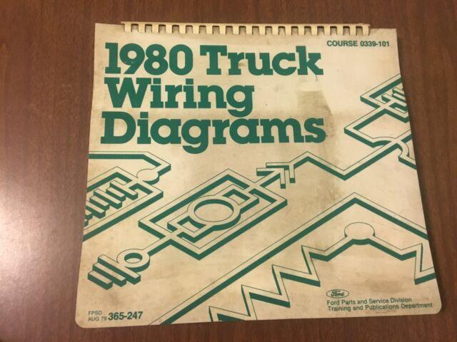 Vintage Ford 1980 Truck Wiring Diagram F Bronco E C L
