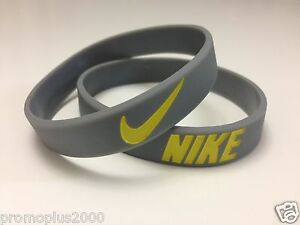 Nike-Sport-Baller-Band-Silicone-Rubber-Bracelet-Wristband-grey-yell