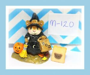 Wee-Forest-Folk-M-120-Witchy-Boo-Black-Witch-Pumpkin-Halloween-1984-Figure