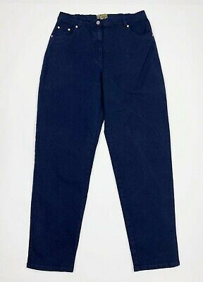 Industrioso Sungold Jeans Donna Usato Stretch Vita Alta Mom W36 Tg 50 Denim Boyfriend T5492