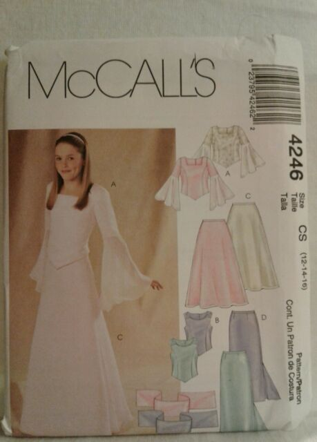 de9d1a92661 McCall s Pattern 4246 NEW UNCUT Tops Skirts Stoles Girls Girls Plus CS  12 114