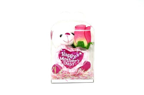 """Mothers Day Gift Box 5"""" x 3.5"""" x 6.5"""" Clear Box Happy Mother's Day Brand-New"""