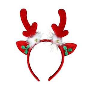 Christmas-Red-Padded-Reindeer-Antlers-Ears-and-Bells-Alice-Hair-Band-Headband