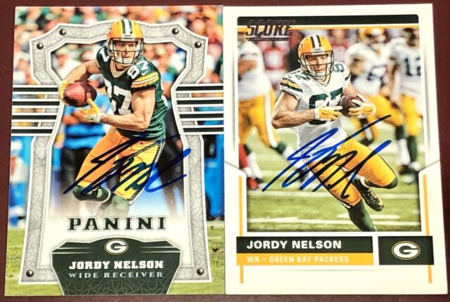 Jordy Nelson former Green Bay Packers NFL WR football auto autograph card LOT X2