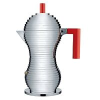 Alessi pulcina 6 Cup Stovetop Espresso Coffee Maker - Red