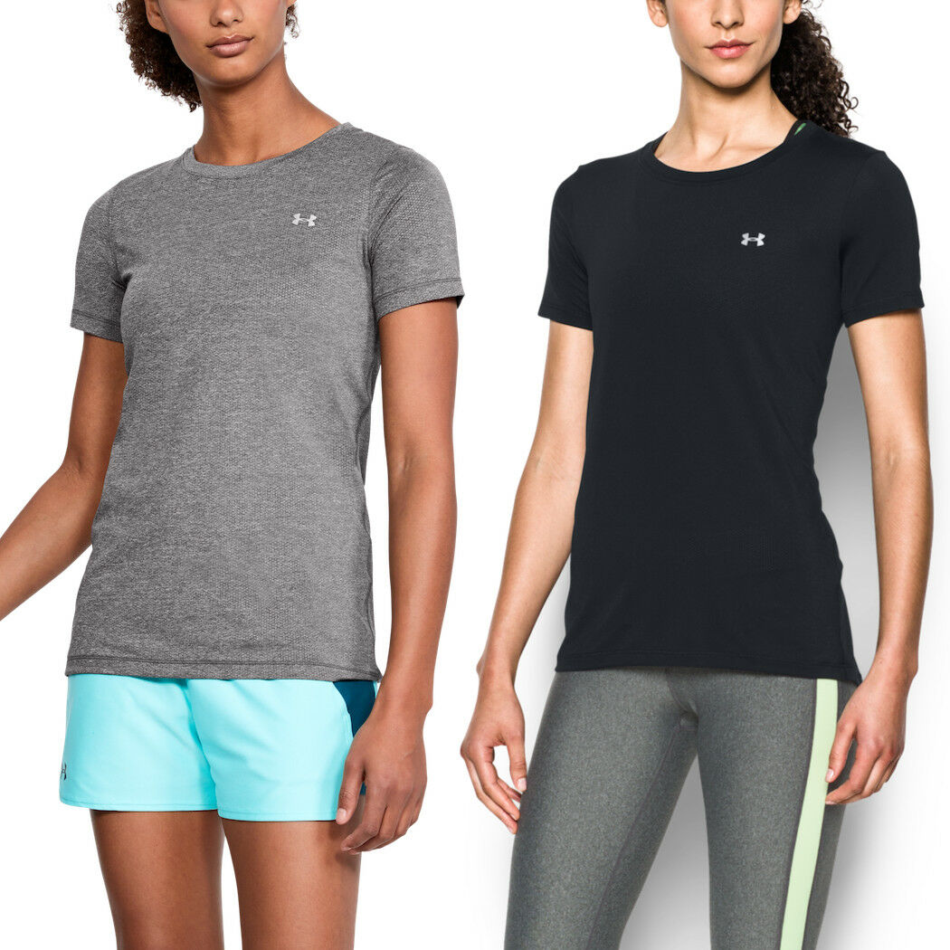 2er Pack Under Armour Femmes shirt HeatGear ® Fitness T-Shirt Manches Manches T-Shirt 89d8c1