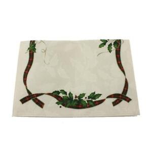 Lenox-Holiday-Nouveau-Ivory-Square-Reversible-Christmas-Placemat-19x14-BHFO-4599