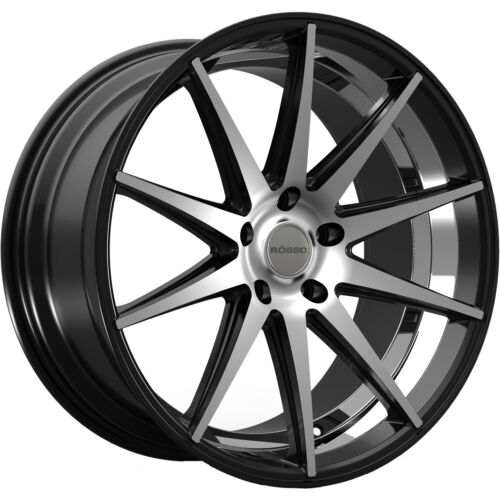 20x8.5 Machined Black Wheel Rosso Legacy 5x120 38