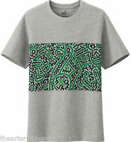 Keith Haring X Uniqlo 'abstract' Sprz Ny Art T-shirt S Gray / Green / Blk