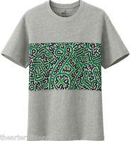 Keith Haring X Uniqlo 'abstract' Sprz Ny Art T-shirt S Gray / Green / Blk