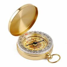 Fun Pocket Watch Style Outdoor Camping Hiking Navigation Compass Ring Keychain