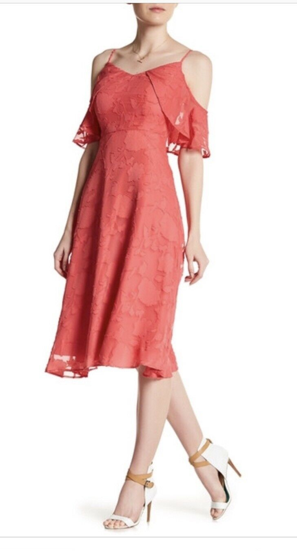 CeCe Women's Luv Off The Shoulder Knit Dress Terra pink Size 2