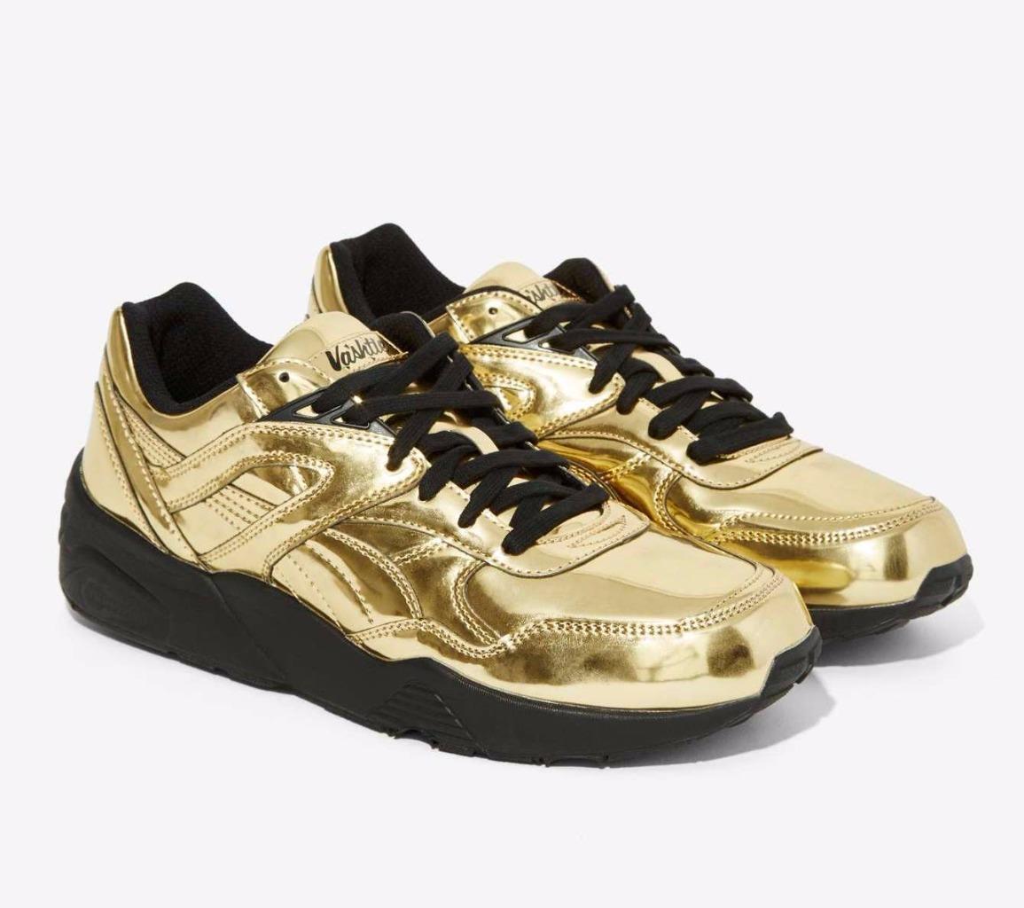 NEW Femme PUMA X Vashtie R698 Metallic Doré Sneakers Nasty Gal