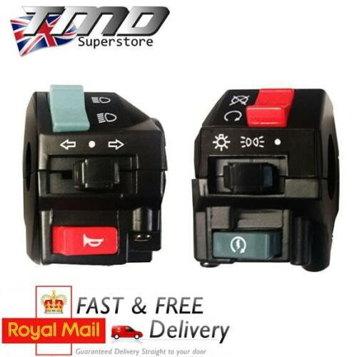 Dual Motorcycle Universal Handlebar Control Switch Light Horn Indicators Bar ATV