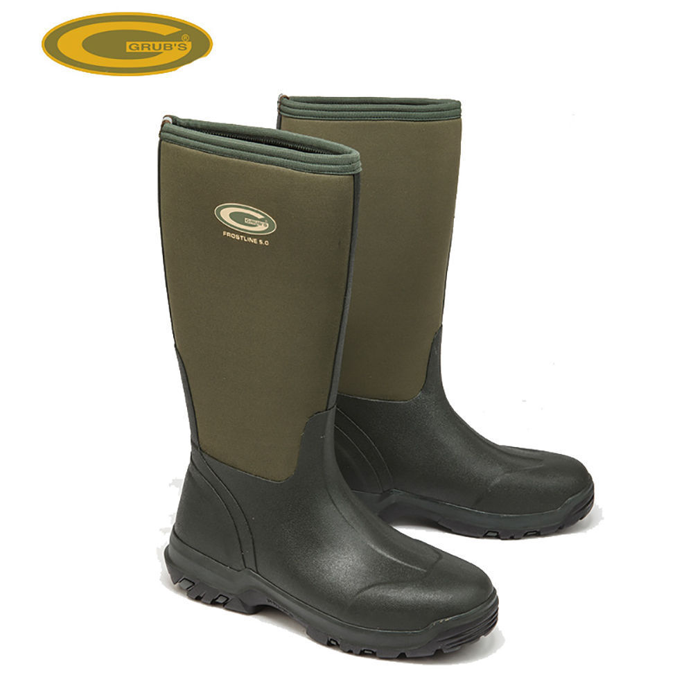 Grubs frostline 5.0 neoprene moss green wellington  boots all sizes field boots  fair prices