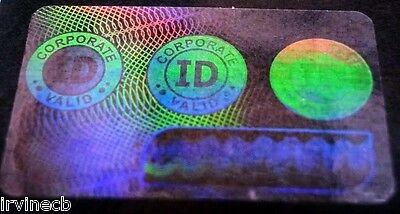 Hologram Overlays Corporate ID Overlay Inkjet Teslin ID Cards - Lot of 5
