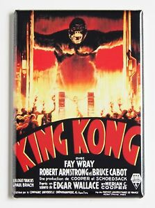 Details About King Kong 1933 Fridge Magnet 2 X 3 Inches Movie Poster Gorilla Ape Fay Wray