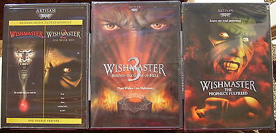 WISHMASTER 1,2,3,4  CLASSIC HORROR SERIES WES CRAVEN R1