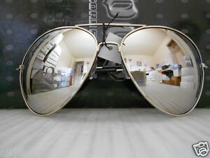 b58750b0af Image is loading Aviator-Sunglasses-Extra-Large-Silver-Mirrored-Lenses-Over-