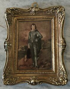 Vintage-The-Blue-Boy-Artext-Prints-Gold-Ornate-Frame-Gainsborough-English-Photo