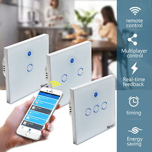 Sonoff-T1-1-2-3-Gang-Smart-WIFI-Light-Switch-Remote-Touch-Control-Life-EU-US