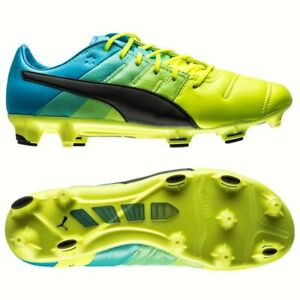 Puma evoPOWER 1.3 Firm Ground Cleats  Casual Soccer  Cleats Yellow Mens