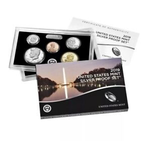 10 Coin SILVER Proof Set w//box /& COA 2019S NO EXTRA Lincoln /'W/' CENT